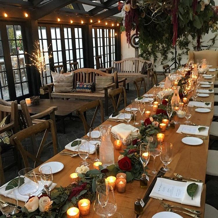 Folktale Winery Greenhouse Wedding Reception