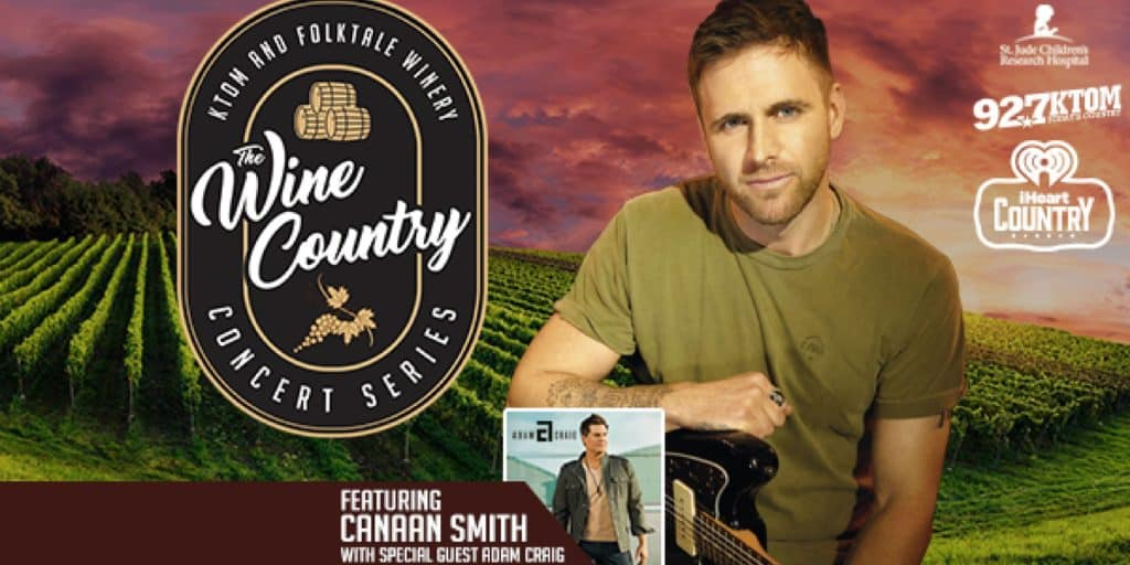 Wine Country Concert Canaan Smith Folktale Winery