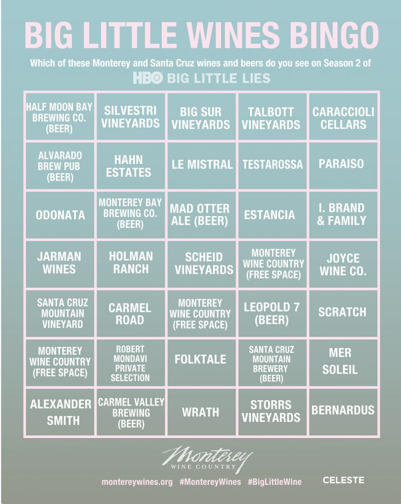 HBO Big Little Lies Bingo #3 CELESTE
