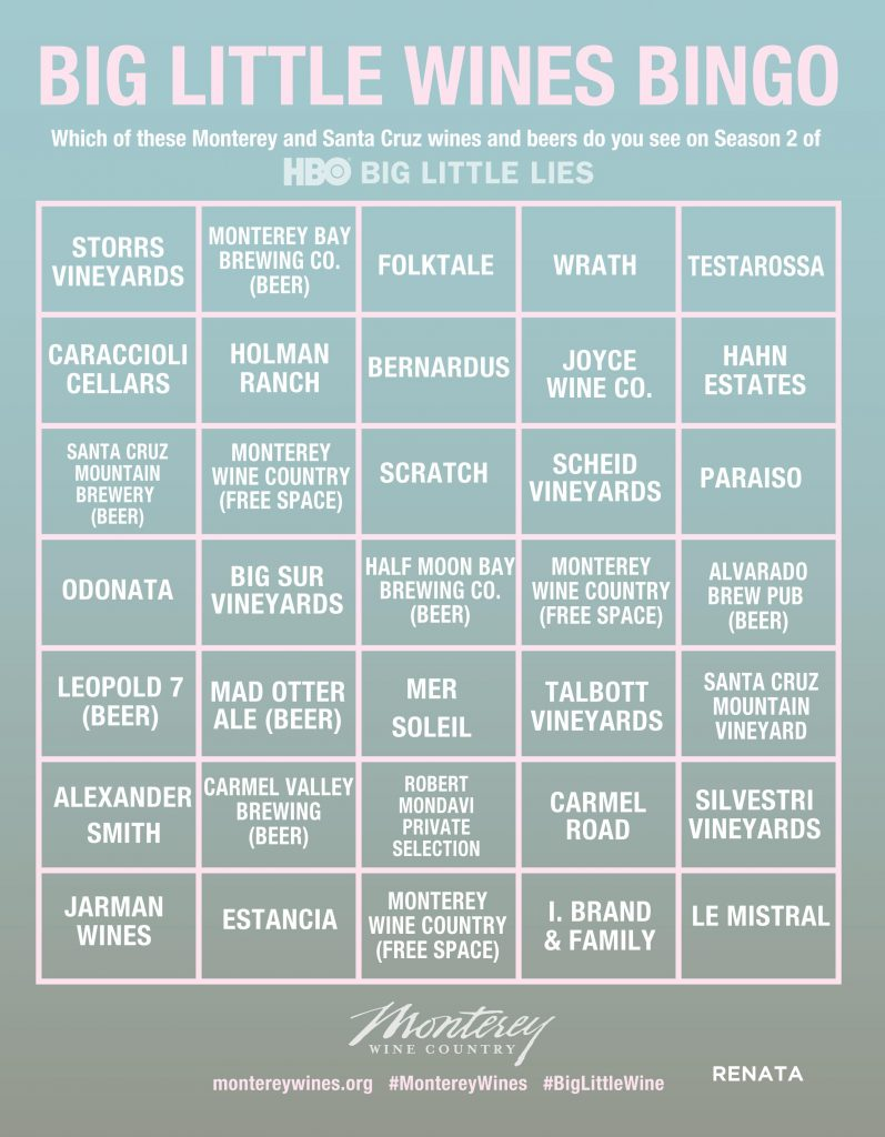 HBO Big Little Lies Bingo #4 RENATA