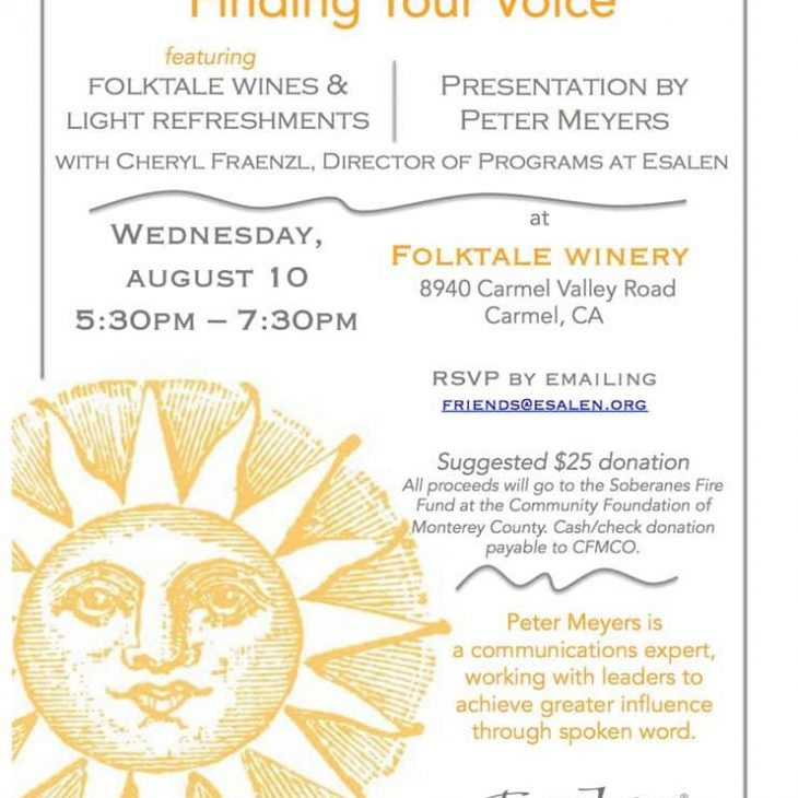 Esalen Speaker Series: Finding Your Voice