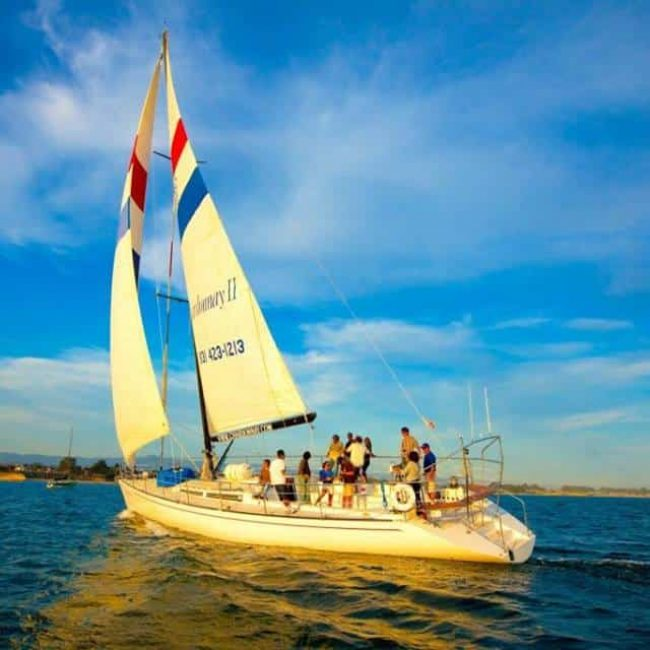 Chardonnay Sailboat on Monterey Bay with Scheid Vineyards