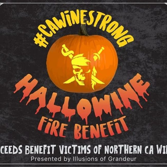#CAWineStrong Hallowine Fire Benefit
